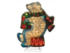 Αρκούδα φωτιζόμενη με 35 LED 78 εκ.