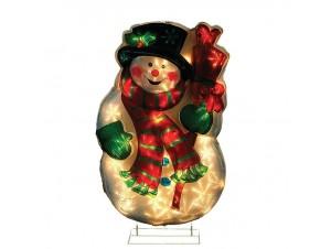 Φωτιζόμενος χιονάνθρωπος με 35 LED 80 εκ.