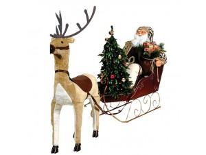 Διακοσμητικός Χριστουγεννιάτικος Άγιος Βασίλης 150 x 250 εκ