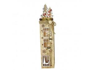 Φωτιζόμενο Χριστουγεννιάτικο διακοσμητικό σπιτάκι 8,5 x 7,5 x 40,5 εκ.