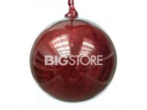 Γυάλινη Κόκκινη Χριστουγεννιάτικη Μπάλα 12 εκ.