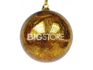 Γυάλινη χρυσή Χριστουγεννιάτικη Μπάλα 10 εκ.