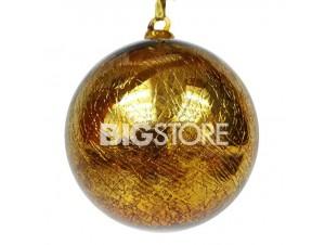 Γυάλινη χρυσή Χριστουγεννιάτικη Μπάλα 12 εκ.