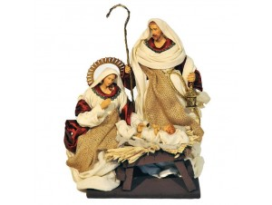 Set 3 τμχ. Χριστουγεννιάτικες φιγούρες Φάτνης 26 εκ.