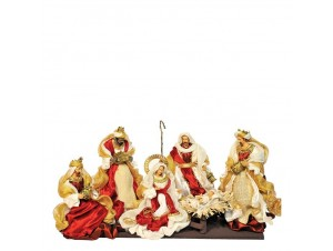 Set 6 τμχ. Χριστουγεννιάτικες φιγούρες Φάτνης 26 εκ.