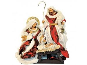 Set 3 τμχ. Χριστουγεννιάτικες φιγούρες Φάτνης 36 εκ.