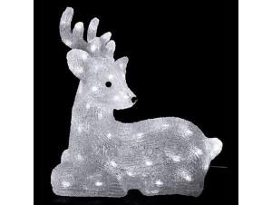 Φωτιζόμενο ελάφι με 64 LED 39 εκ.
