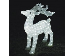 Φωτιζόμενο ελάφι με 160 LED 75 εκ.