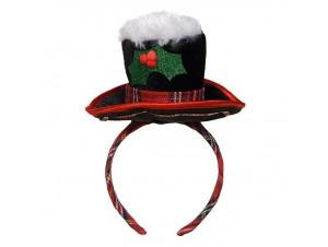 Χριστουγεννιάτικη στέκα καπέλο χιονάνθρωπου