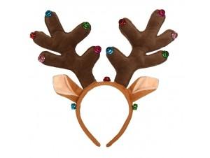 Χριστουγεννιάτικη στέκα αυτιά ταράνδου 30 εκ.