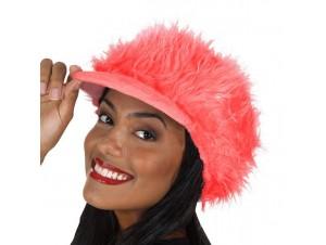 Αποκριάτικο Γούνινο καπέλο Κόκκινο