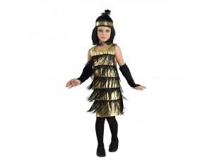 Αποκριάτικη παιδική στολή Χρυσό Τσάρλεστον