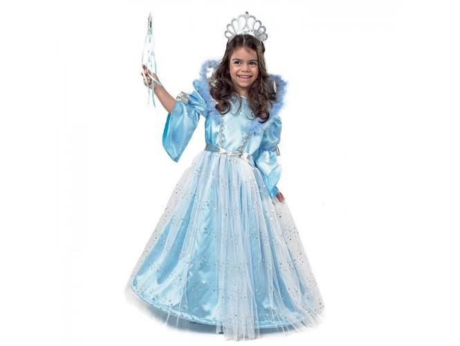 Αποκριάτικη παιδική στολή Βασίλισσα του Πάγου