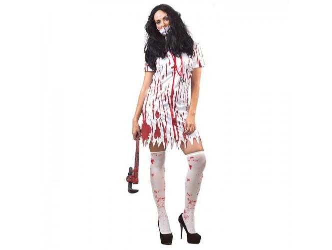 Αποκριάτικη στολή Νοσοκόμα με αίμα