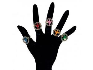 Αποκριάτικα δαχτυλίδια σήμα ειρήνης
