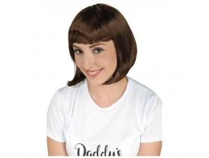 Αποκριάτικη περούκα cecile καστανή