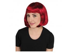 Αποκριάτικη περούκα cecile κόκκινη