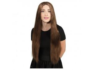Αποκριάτικη περούκα καστανή