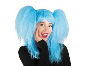 Αποκριάτικη περούκα παιδική pin up girl γαλάζια