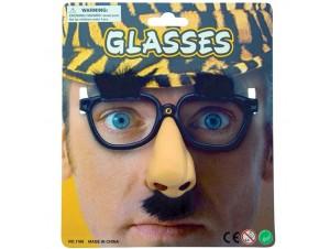 Αποκριάτικα γυαλιά με μύτη, φρύδια και μουστάκι