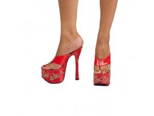 Αποκριάτικο παπούτσι σαγιoνάρα ψηλοτάκουνα