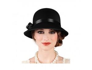 Αποκριάτικο Καπέλο Τσάρλεστον Μαύρο