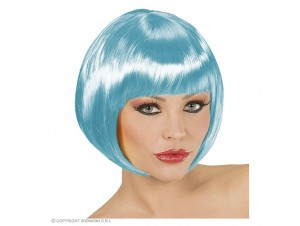 Αποκριάτικη περούκα μπλε κοντή