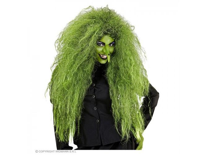 Αποκριάτικη πράσινη περούκα μάγισσας
