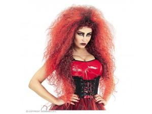 Αποκριάτικη κόκκινη περούκα διαβολίνα