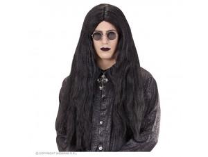 Αποκριάτικη μαύρη περούκα μακριά