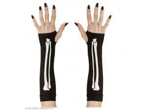 Αποκριάτικα γάντια σκελετός