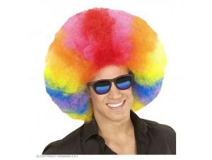 Αποκριάτικη πολύχρωμη περούκα κλόουν