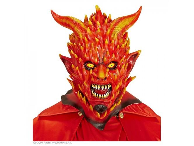 Αποκριάτικη φλεγόμενη μάσκα διαβόλου