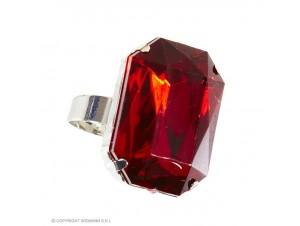 Αποκριάτικο δαχτυλίδι με κόκκινη πέτρα