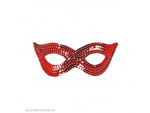 Αποκριάτικη κόκκινη μάσκα ματιών με παγιέτες