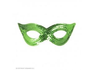 Αποκριάτικη πράσινη μάσκα ματιών με παγιέτες