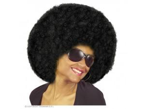 Αποκριάτικη μαύρη περούκα άφρο