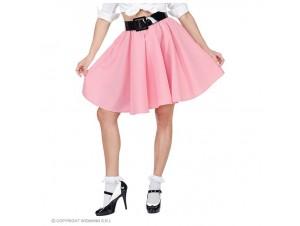 Αποκριάτικη φούστα ροζ rock'n'roll