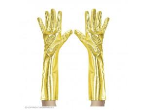 Αποκριάτικα χρυσά μεταλλικά γάντια