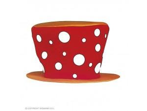 Αποκριάτικο καπέλο κόκκινο κλόουν