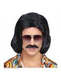 Αποκριάτικη περούκα με μουστάκι ντίσκο