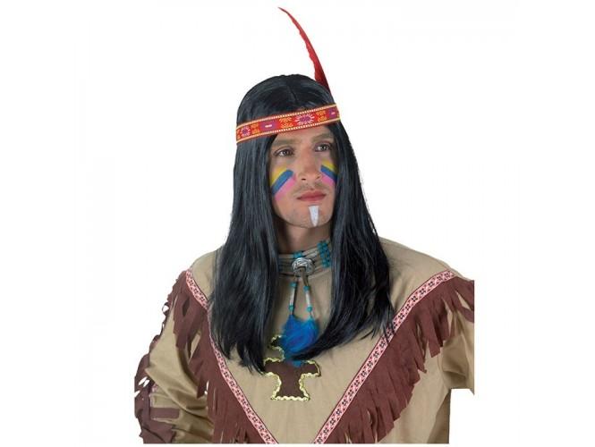 Αποκριάτικη Περούκα Ινδιάνου