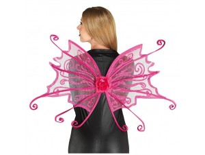 Αποκριάτικα Φτερά πεταλούδας Φούξια
