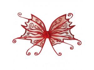 Αποκριάτικα Φτερά Πεταλούδας Κόκκινα