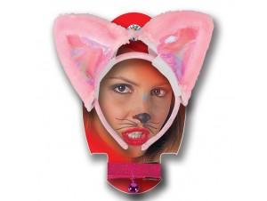 Αποκριάτικη στέκα ροζ γατούλα
