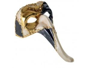 Βeνετσιάνικη μάσκα προσώπου Πουλί με μακρύ ράμφος