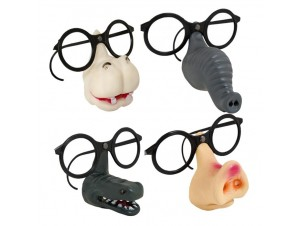 Αποκριάτικα γυαλιά με μύτη ζωάκι