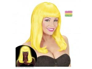 Αποκριάτικη περούκα ΝΕΟΝ κίτρινη