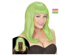 Αποκριάτικη περούκα ΝΕΟΝ πράσινη