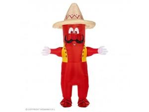 Αποκριάτικη φουσκωτή στολή Μεξικάνικη πιπεριά